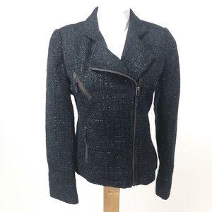 I ❤️ Ronson textured moto tinsel blazer jacket